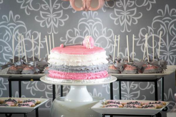 Princess Baby Shower via Kara's Party Ideas | KarasPartyIdeas.com #pink #gray #princess #baby #shower #party #ideas (10)
