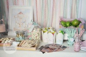 Vintage Carousel Birthday Party via Kara's Party Ideas | KarasPartyIdeas.com #vintage #carousel #birthday #party #ideas (4)