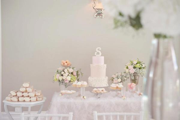 Pink Christening Party via Kara's Party Ideas | KarasPartyIdeas.com #elegant #pink #girl #christening #party #ideas (12)