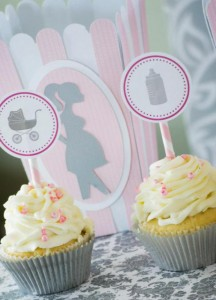Princess Baby Shower via Kara's Party Ideas | KarasPartyIdeas.com #pink #gray #princess #baby #shower #party #ideas (9)