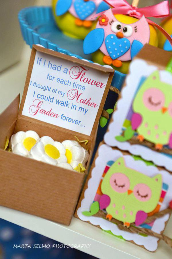 Mama Owl Mother's Day Party via Kara's Party Ideas | KarasPartyIdeas.com #mother's #day #owl #party #baby #shower #ideas (7)