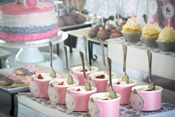 Princess Baby Shower via Kara's Party Ideas | KarasPartyIdeas.com #pink #gray #princess #baby #shower #party #ideas (8)