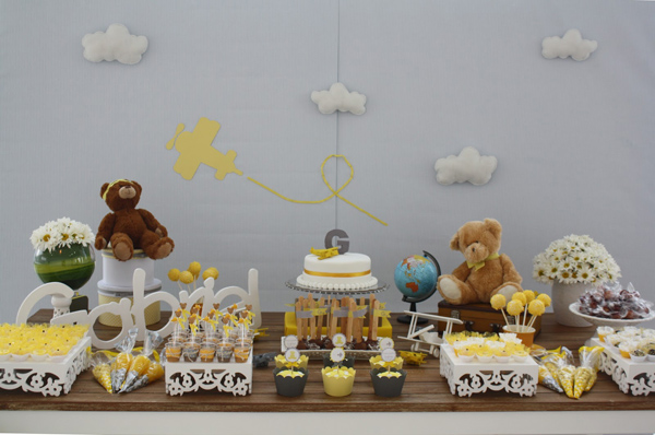 Aviator Bear Baby Shower #aviator #bear #baby #shower (4)