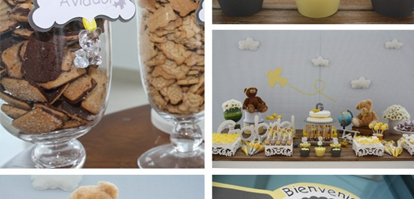 Aviator Bear Baby Shower #aviator #bear #baby #shower (1)