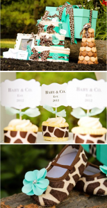 Baby and Co. Tiffany inspired Baby Shower with so many cute ideas! Via Kara's Party Ideas KarasPartyIdeas.com #tiffany #themed #baby #shower #co #ideas #decoration #idea