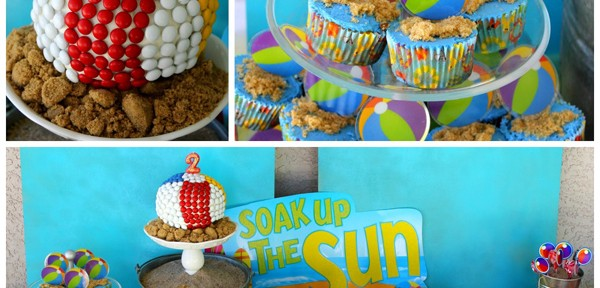 Beach Ball Birthday Bash via Kara's Party Ideas | Kara'sPartyIdeas.com #beach #ball #birthday #bash (24)