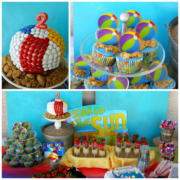 Beach Ball Birthday Bash via Kara's Party Ideas | Kara'sPartyIdeas.com #beach #ball #birthday #bash (7)