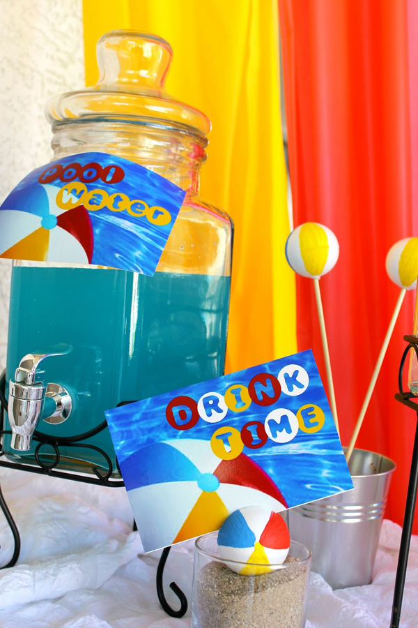 Beach Ball Birthday Bash via Kara's Party Ideas | Kara'sPartyIdeas.com #beach #ball #birthday #bash (16)