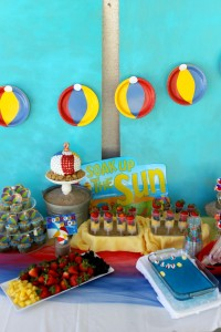 Beach Ball Birthday Bash via Kara's Party Ideas | Kara'sPartyIdeas.com #beach #ball #birthday #bash (2)