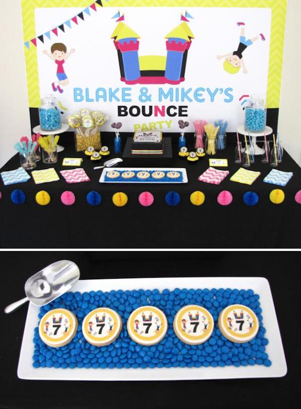 Kara S Party Ideas Bounce House Themed Birthday Party