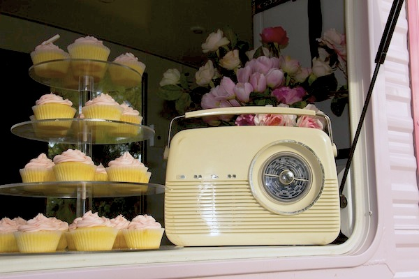 Sweet Jane's traveling teahouse cupcake trailer birthday party via Kara's Party Ideas #tea #party #jane #treehouse #sweet #idea (18)