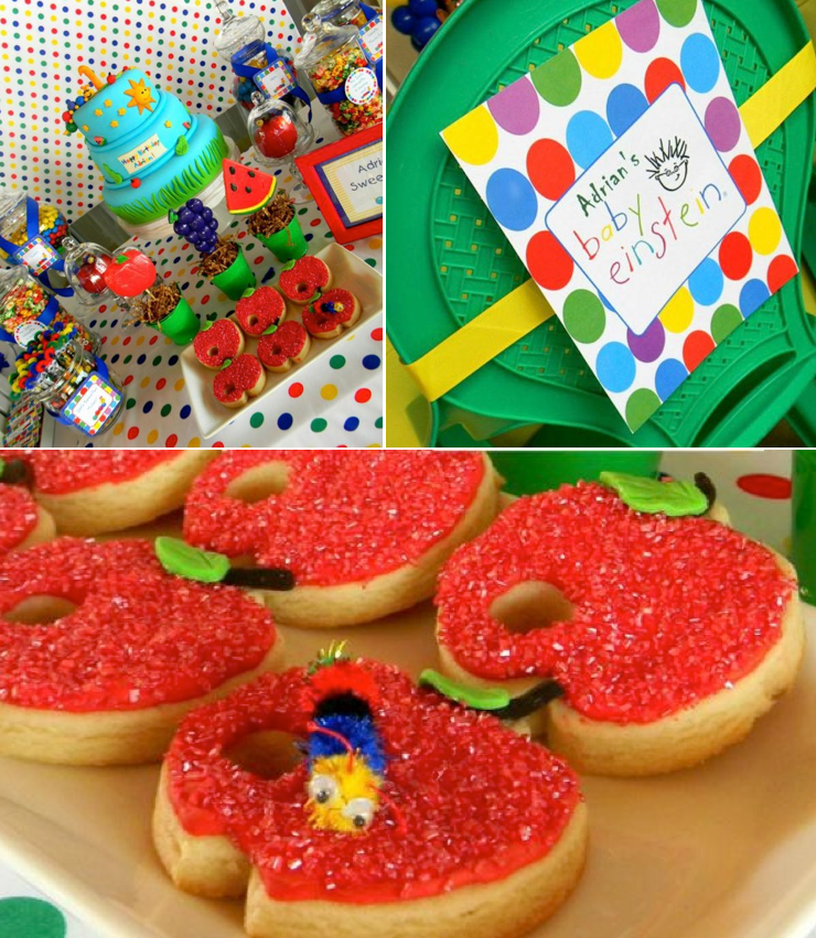 Caterpillar Baby Einstein Birthday Party via Kara's Party Ideas KarasPartyIdeas.com #caterpillar #baby #einstein