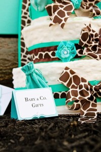 Baby & Co. Tiffany's Baby Shower via Kara's Party Ideas | KarasPartyIdeas.com #tiffanys #blue #baby #shower #party #ideas #favors (5)