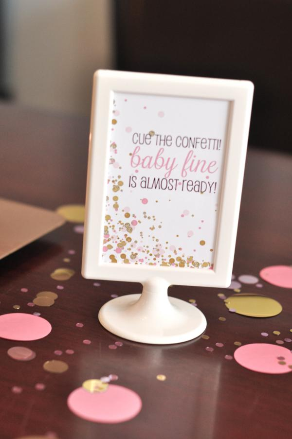 Confetti Baby Shower via Kara's Party Ideas | KarasPartyIdeas.com #confetti #baby #shower #ideas (23)