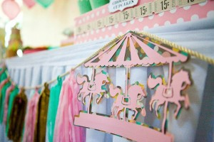 Cupcakes and Carousels 2nd Birthday Party via Kara's Party Ideas | Kara'sPartyIdeas.com #cupcake #carousel #birthday #party (12)