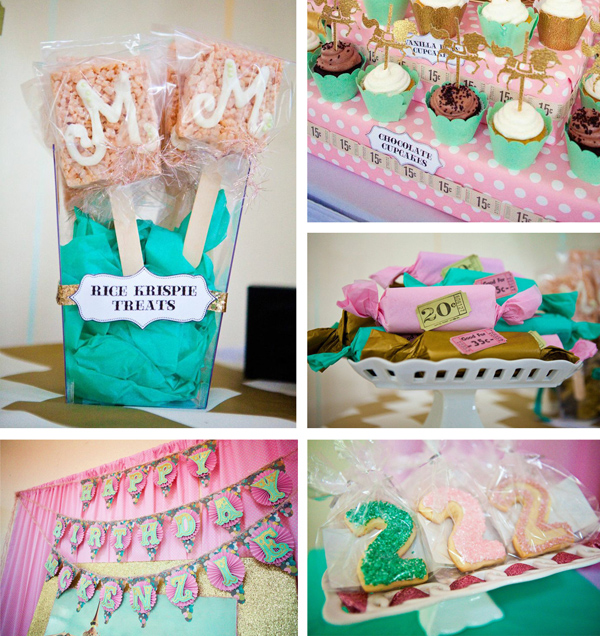 Cupcakes and Carousels 2nd Birthday Party Via Kara's Party Ideas | Kara'sPartyIdeas.com #cupcake #carousels #birthday #party