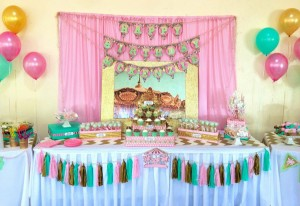 Cupcakes and Carousels 2nd Birthday Party via Kara's Party Ideas | Kara'sPartyIdeas.com #cupcake #carousel #birthday #party (23)
