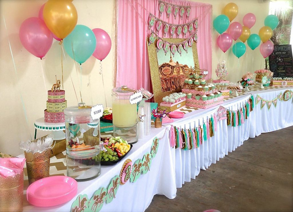 Karas Party Ideas Carousel Cupcake Themed Birthday