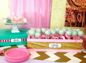 Cupcakes and Carousels 2nd Birthday Party via Kara's Party Ideas | Kara'sPartyIdeas.com #cupcake #carousel #birthday #party (18)
