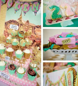 Cupcakes and Carousels 2nd Birthday Party via Kara's Party Ideas | Kara'sPartyIdeas.com #cupcake #carousel #birthday #party (2)