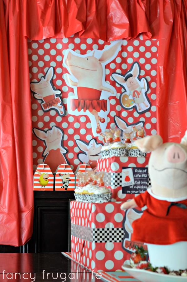 Budget Friendly Olivia Pig Birthday Party via Kara's Party Ideas | KarasPartyIdeas.com #olivia #pig #birthday #party #ideas (15)