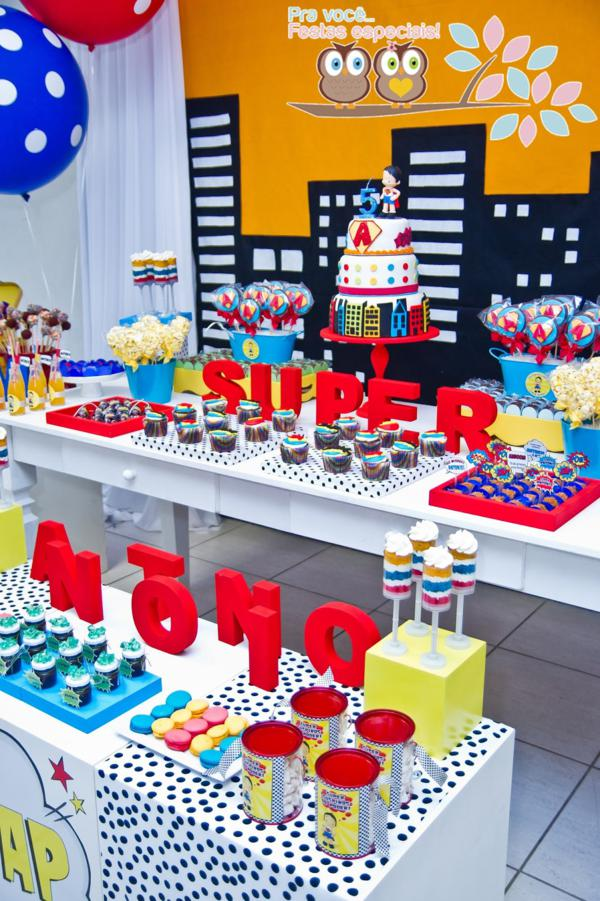Superhero Birthday Party via Kara's Party Ideas | KarasPartyIdeas.com #superhero #super #hero #spiderman #superman #party #ideas (12)
