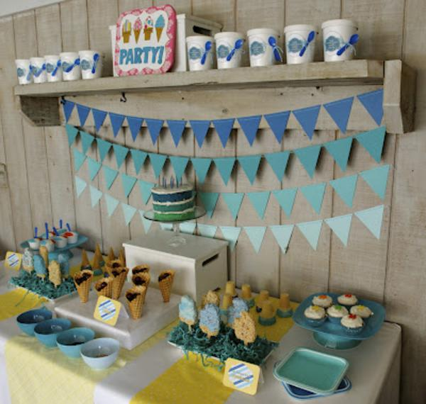 Summer Ice Cream Party via Kara's Party Ideas | KarasPartyIdeas.com #summer #ice #cream #blue #party #ideas (25)