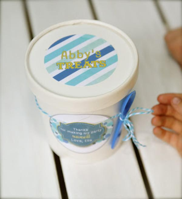 Summer Ice Cream Party via Kara's Party Ideas | KarasPartyIdeas.com #summer #ice #cream #blue #party #ideas (17)
