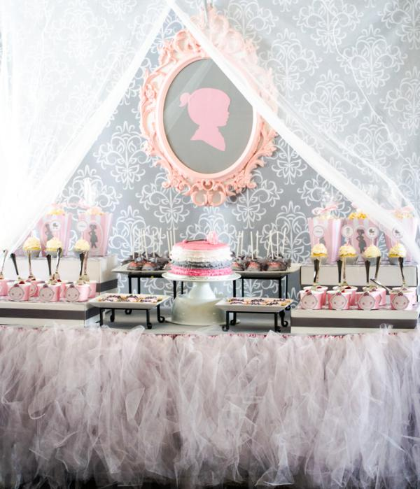 Kara S Party Ideas Pink Gray Princess Girl Themed Baby