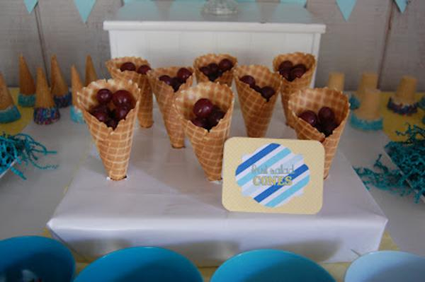 Summer Ice Cream Party via Kara's Party Ideas | KarasPartyIdeas.com #summer #ice #cream #blue #party #ideas (10)