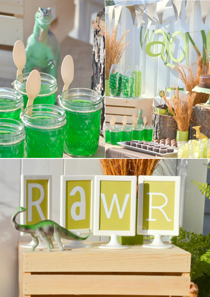Dino Mite Dinosaur themed birthday party with TONS of cute and easy ideas! Via Kara's Party Ideas KarasPartyIdeas.com #dinosaur #birthday #party #theme #supplies
