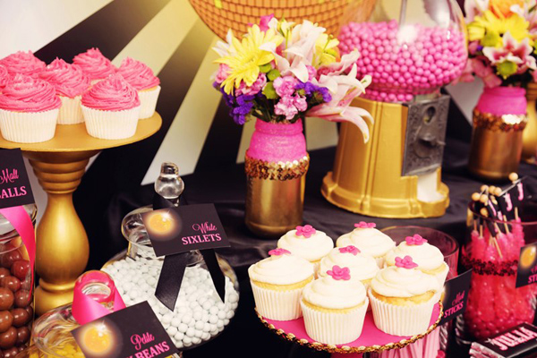 Disco Glam 12th Birthday Party via Kara's Party Ideas| Kara'sPartyIdeas.com #disco #glam #birthday #party (26)