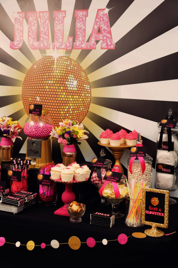Disco Glam 12th Birthday Party via Kara's Party Ideas| Kara'sPartyIdeas.com #disco #glam #birthday #party (13)
