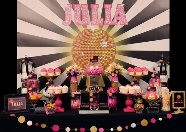 Disco Glam 12th Birthday Party via Kara's Party Ideas| Kara'sPartyIdeas.com #disco #glam #birthday #party (10)