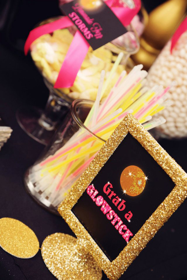 Disco Glam 12th Birthday Party via Kara's Party Ideas| Kara'sPartyIdeas.com #disco #glam #birthday #party (1)