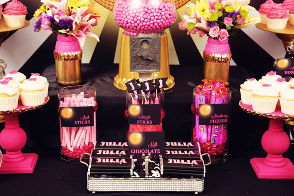 Disco Glam 12th Birthday Party via Kara's Party Ideas| Kara'sPartyIdeas.com #disco #glam #birthday #party (24)