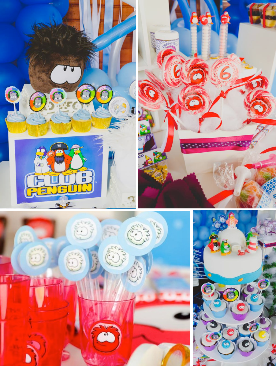 Disney's CLUB PENGUIN themed birthday party with SO many ideas via Kara's Party Ideas KarasPartyIdeas.com #club #penguin #disney #birthday #party #ideas #supplies