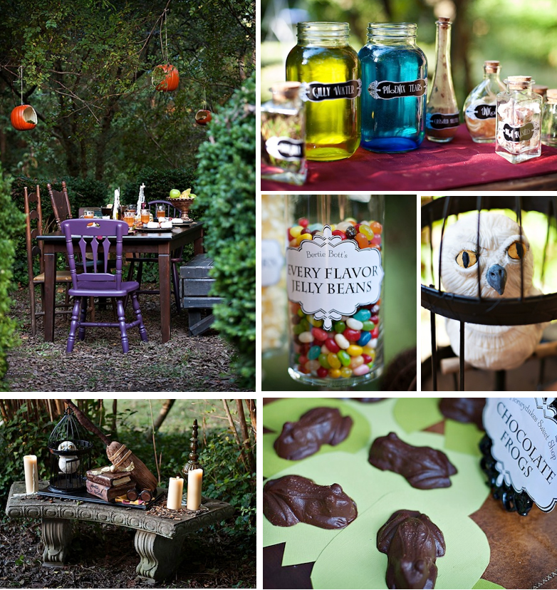 FORBIDDEN FOREST FEAST / HARRY POTTER BIRTHDAY PARTY Via Kara's Party Ideas | Kara'sPartyIdeas.com