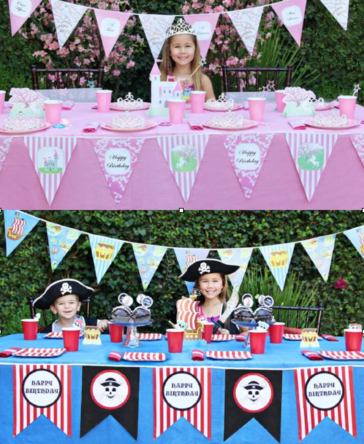 Fairy Princess Party + Pirate Party Ideas via Kara's Party Ideas KarasPartyIdeas.com