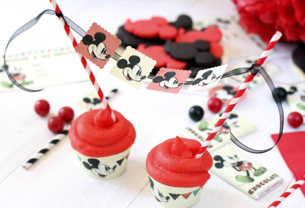 Vintage Mickey Mouse Party via Kara's Party Ideas | KarasPartyIdeas.com #disney #vintage #mickey #mouse #party #ideas (7)