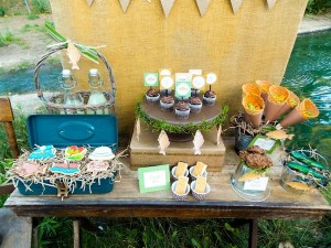 Fisherman Fishing themed birthday party via Kara's Party Ideas KarasPartyIdeas.com #fishing #boy #dad #themed #birthday #party #idea #father's #day #ideas-11