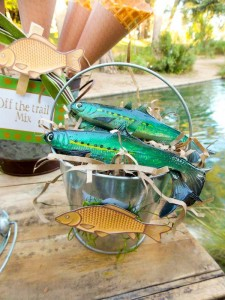 Fisherman Fishing themed birthday party via Kara's Party Ideas KarasPartyIdeas.com #fishing #boy #dad #themed #birthday #party #idea #father's #day #ideas-7