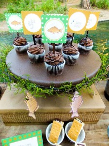 Fisherman Fishing themed birthday party via Kara's Party Ideas KarasPartyIdeas.com #fishing #boy #dad #themed #birthday #party #idea #father's #day #ideas-9