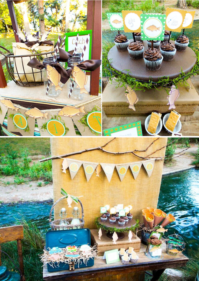 Kara S Party Ideas Gone Fishing Boy Themed Party Planning Ideas