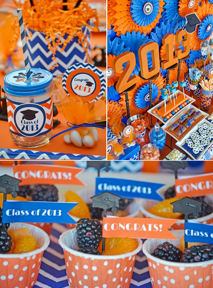 Graduation party Congratulations Grad party with printables via  Kara's Party Ideas KarasPartyIdeas.com #graduation #party #ideas #congrats #congratulations #2013