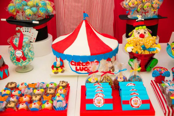 Karas Party Ideas Circus Carnival 1st Birthday Boy Girl