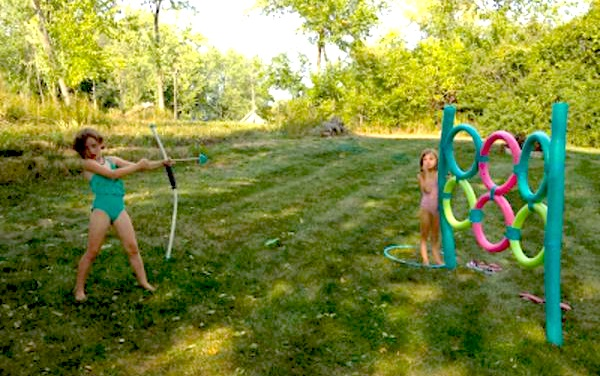 FUN summer activity for kids using POOL NOODLES! Cute ice cream party via Kara's Party Ideas KarasPartyIdeas.com