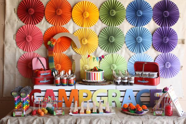 Camp Arts and Crafts Rainbow Party via Kara's Party Ideas | KarasPartyIdeas.com #camp #arts #crafts #rainbow #party #ideas (74)