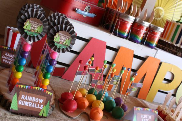 Camp Arts and Crafts Rainbow Party via Kara's Party Ideas | KarasPartyIdeas.com #camp #arts #crafts #rainbow #party #ideas (72)