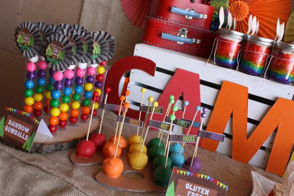 Camp Arts and Crafts Rainbow Party via Kara's Party Ideas | KarasPartyIdeas.com #camp #arts #crafts #rainbow #party #ideas (70)